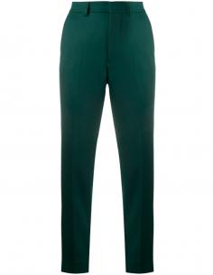 Pantalon de Costume Slim Vert en Laine