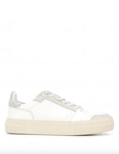 Sneakers basses blanches bi-matière