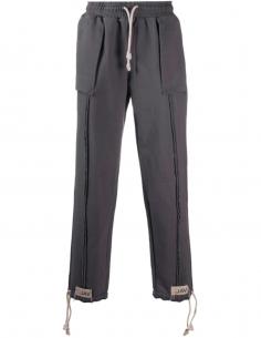 Visible Seam Jogging Pants - Grey