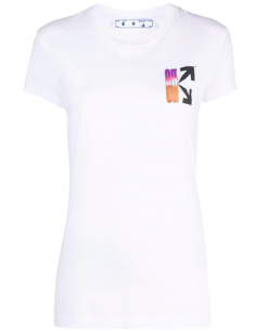 T-shirt Logo Arrows Multicolore Imprimé au dos - Blanc