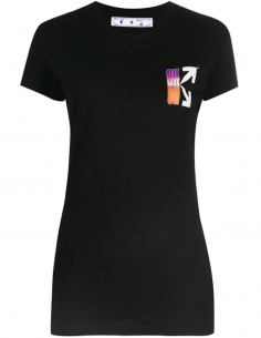 T-shirt Logo Arrows Multicolore Imprimé au dos - Noir
