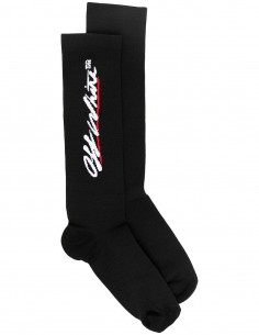 Logo high socks - Black