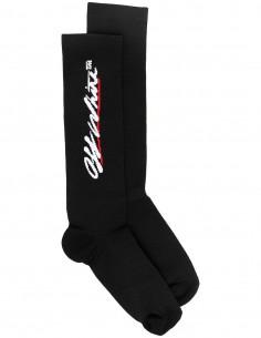 Chaussettes Montantes à Logo - Noir