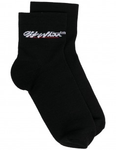 Logo low socks - White