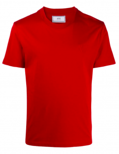 RED TEE-SHIRT LITTLE RED HEART EMBROIDERED