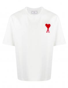 T-shirt blanc Grand Coeur AMI Brodé