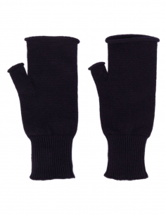 Blue gloves mitten style