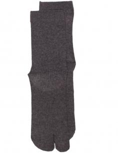 Grey Tabi toe socks.