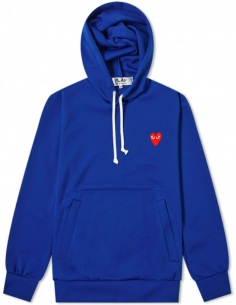 Blue hoody with red heart patch