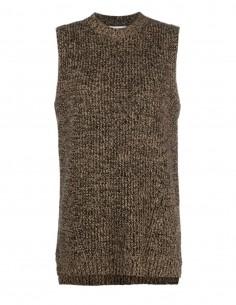 Sleeveless Mottled Sweater