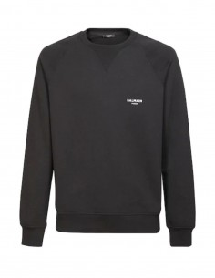 Printed logo sweatshirt - black