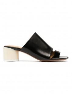 Black Heel Toe Strap Sandals