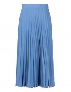 MM6 blue high waist pleated skirt - SS21