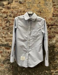 Claudine collar cotton shirt - blue