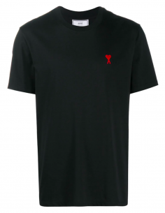 Embroidered Heart Logo T-shirt - black