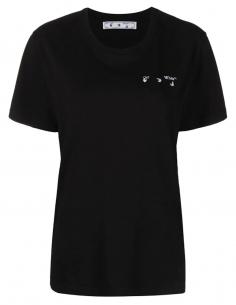 T-shirt logo « Arrows » marbré imprimé au dos - noir