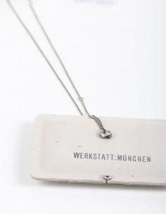 "Silver necklace with ""rosebud"" pendant WERKSTATT:MUNCHEN."