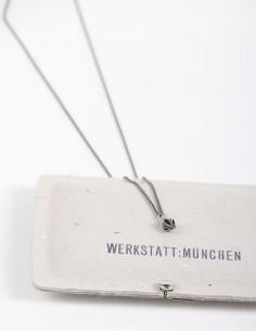 "Silver necklace with ""rosebud"" pendant WERKSTATT: MUNCHEN."
