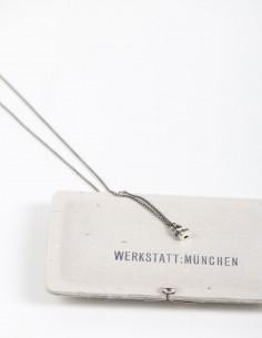 Silver necklace with lock pendant WERKSTATT:MUNCHEN.