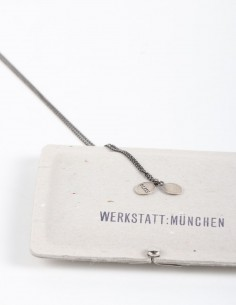 Double medallion silver necklace WERKSTATT:MUNCHEN.