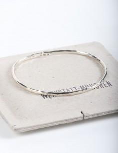 Forged silver bangle bracelet WERKSTATT:MUNCHEN.