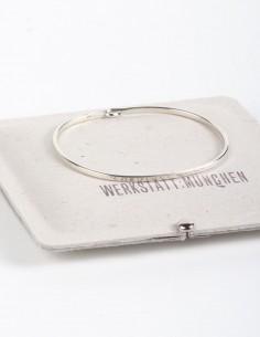 Bracelet jonc simple en argent WERKSTATT:MUNCHEN.