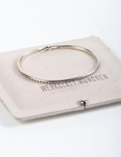 Silver bangle bracelet with pattern WERKSTATT:MUNCHEN