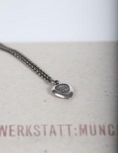 "Silver necklace ""Thank you""  pendant WERKSTATT:MUNCHEN."