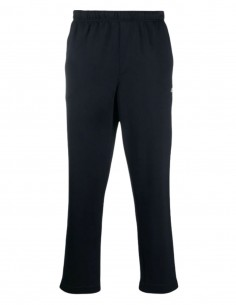 AMI navy blue jogging pants with straight cut for men - SS21