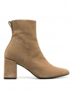AMI PARIS beige women's boots with square heels - SS21