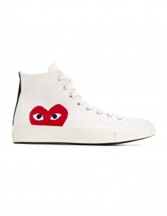 Cdg Play X Converse mono heart high sneakers in white