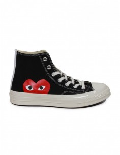 Cdg Play X Converse monoheart high sneakers in black
