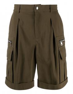 Bermuda cargo kaki multi-poches pour homme - SS21