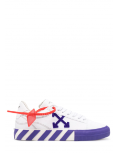 "OFF-WHITE ""Vulcanized"" unisex sneakers in purple and white canvas with round toe - SS21"
