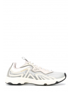 """White and ivory ACNE STUDIOS """"N3W W"""" trainers in translucent ripstop for women - SS21"""
