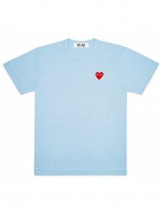 T-shirt bleu ciel avec coeur rouge cdg play
