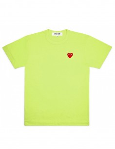 Green tee with red heart cdg play