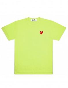 T-shirt vert avec coeur rouge cdg play