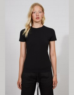 THOM KROM women's t-shirt in black light cotton - SS21