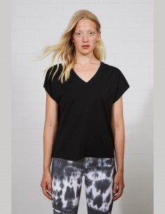 THOM KROM T-shirt for women in black cotton - SS21