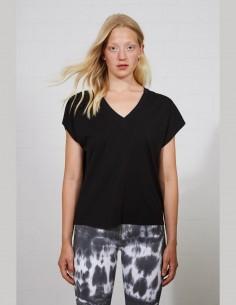 T-shirt THOM KROM pour femme en coton noir - SS21