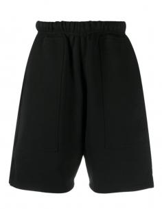 Bermuda AMI PARIS en coton noir pour homme avec logo brodé - SS21