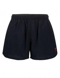 Short de maillot de bain bleu marine court pour homme avec logo brodé - SS21