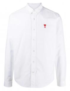 Chemise blanche AMI PARIS pour homme avec logo brodé - SS21