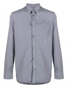 MAISON MARGIELA gray shirt in cotton poplin for men - SS21