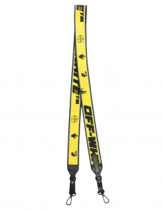 Sangle de sac OFF-WHITE jaune avec logo - SS21