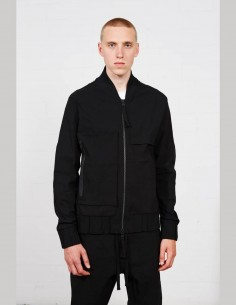 THOM KROM bomber jacket in black cotton for men - SS21