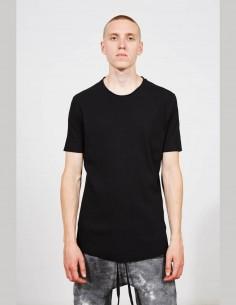 THOM KROM black short-sleeved ribbed jersey t-shirt for men - SS21