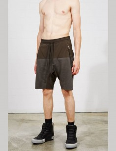 THOM KROM bi-color men's shorts with gusset pockets - SS21