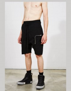 Short noir THOM KROM coupe sarouel pour homme avec poche zippée - SS21